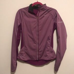 Nike dri fit sz m purple zip up jacket